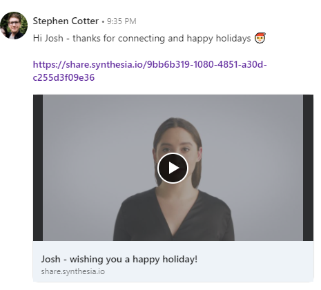 Create LinkedIn Video Messages using AI 22